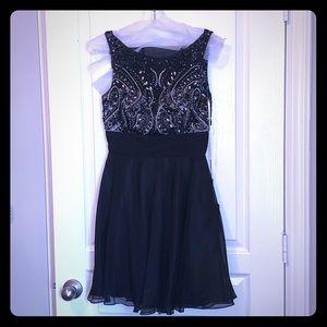 Crystal Encrusted Formal Dress